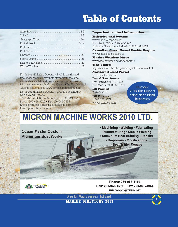 Marine directory by North Island Gazette - issuu