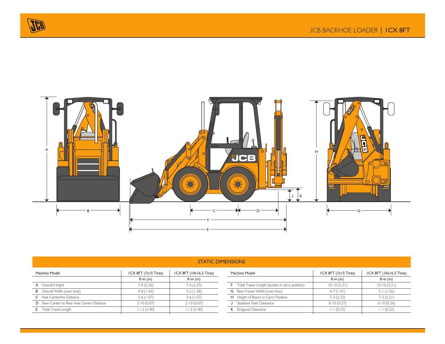JCB - BHL 1CX Spec Sheet (US) Dec 2011 by JCB North America