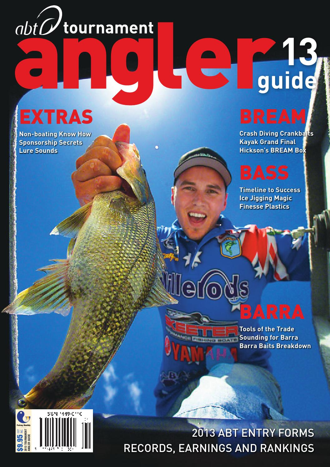 Abt Tournament Angler Guide 13 By Fishing Monthly Issuu Lure Minnow 85 Cm 68gr Crank Bait Treble Hook Crankbait