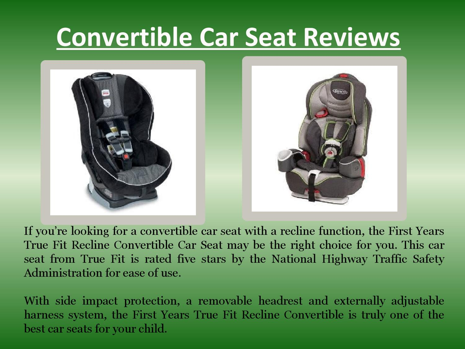 Convertible Car Seat Reviews By