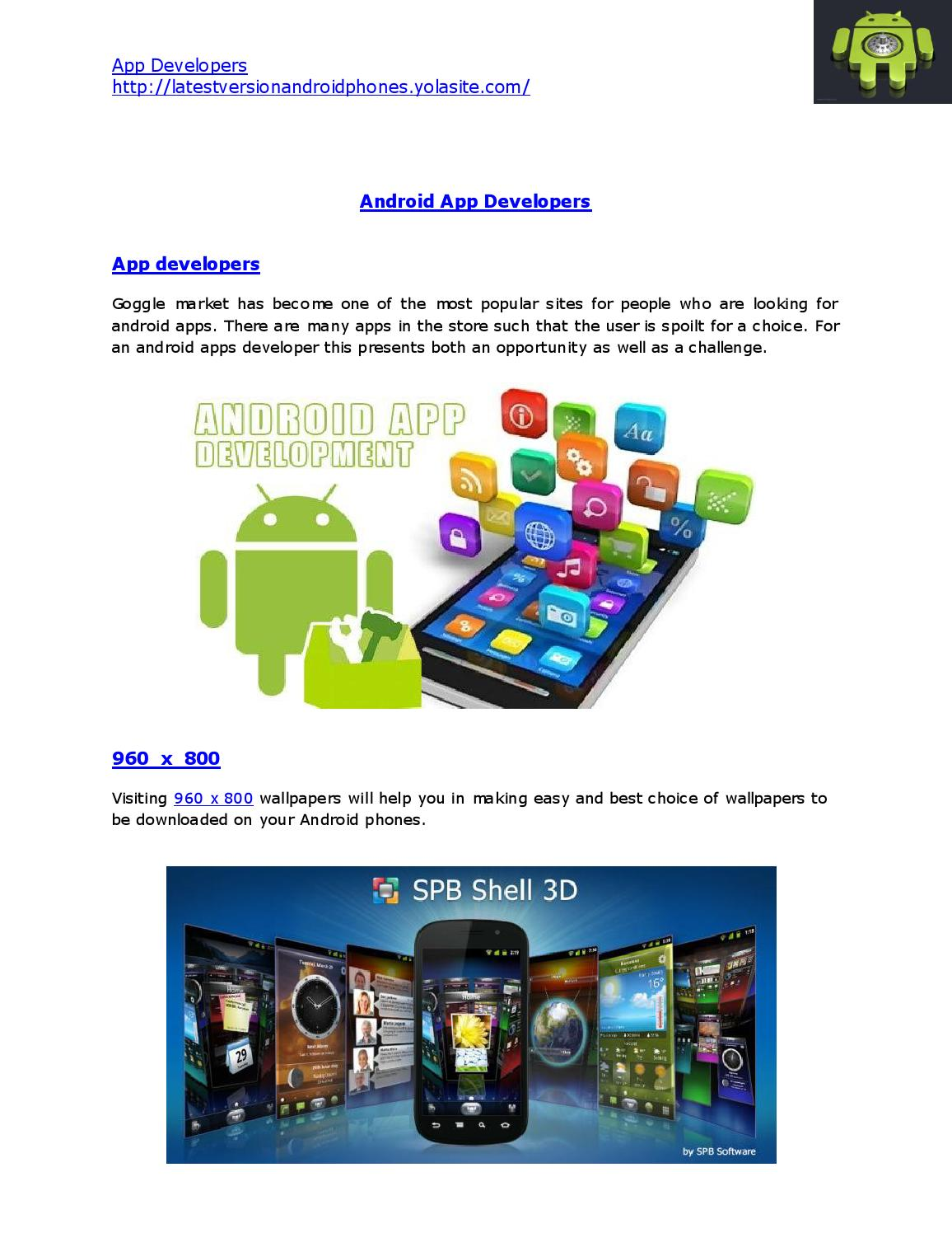 App developers by Douglas Reed - issuu