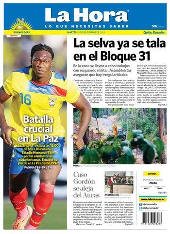 la Hora Quito 10 de septiembre de 2013 by Diario La Hora Ecuador - issuu 612275a41c9