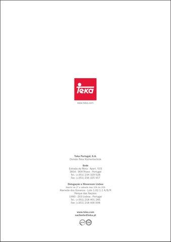 Teka Catalogo By Pinheiro E Ribeiro Issuu