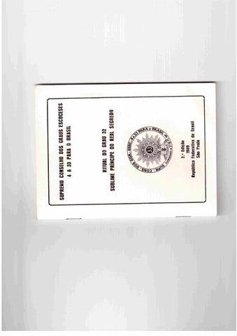 533258b0ac73d Ritual do grau 32 da maçonaria ( sublime príncipe do real segredo)