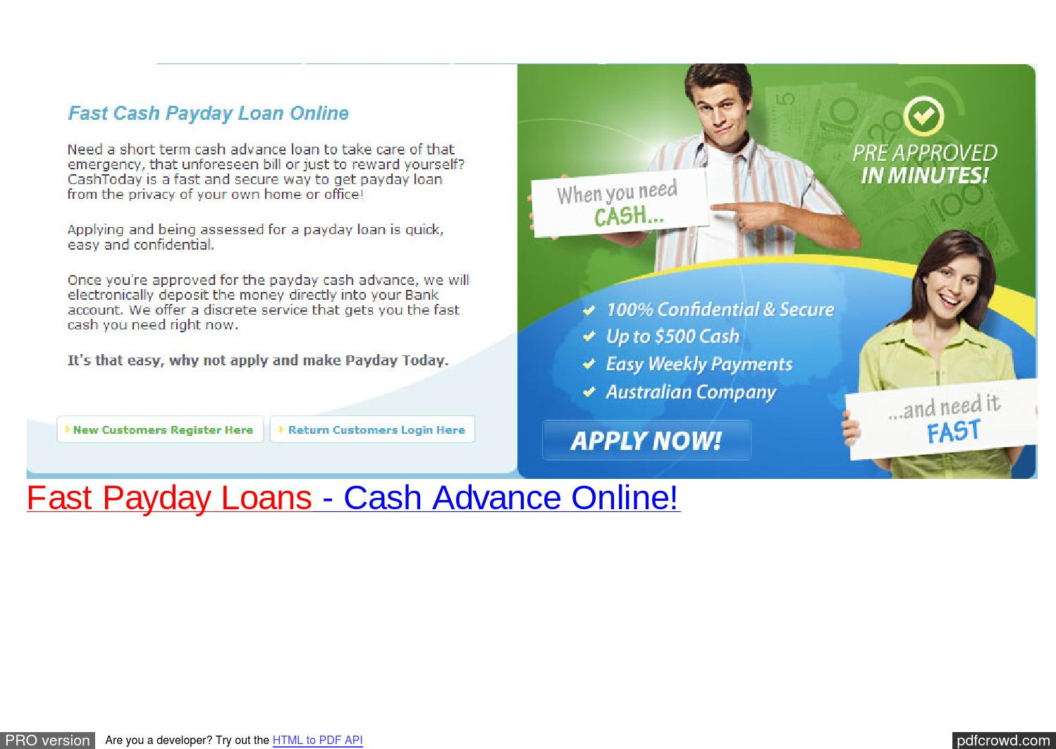 Instant Payday Advance : Instant payday loans self employed