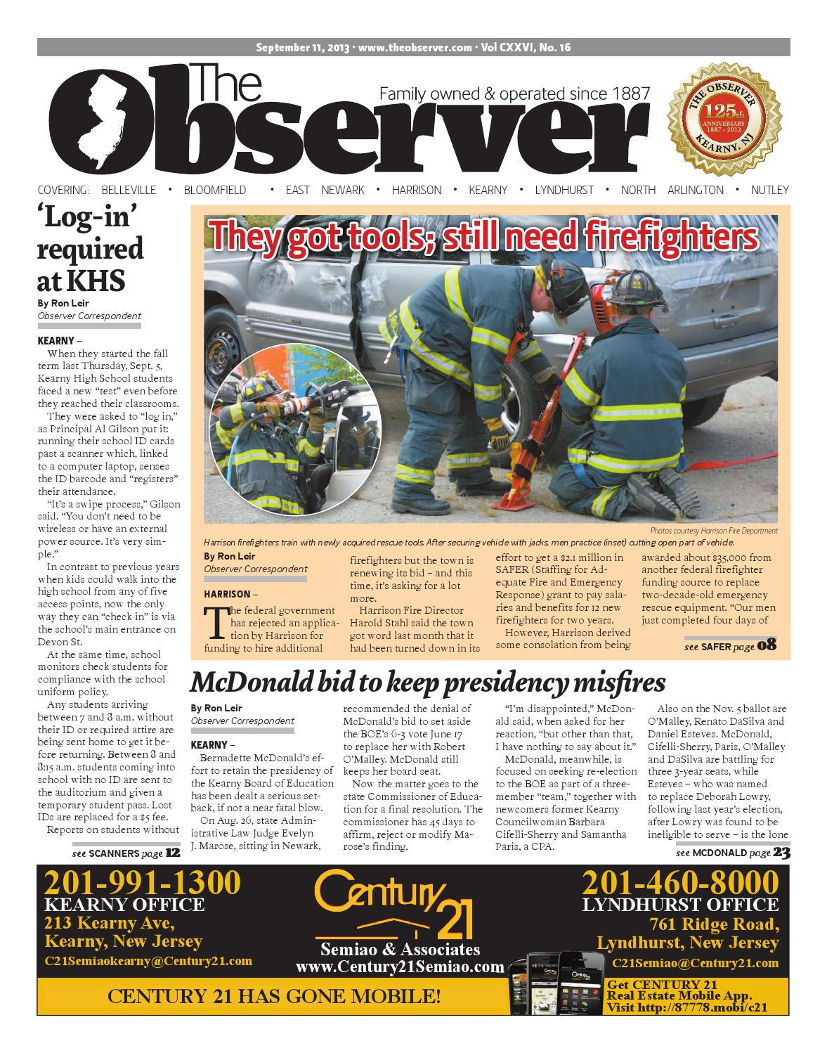Sept 11 2013 Edition Of The Observer By Kevin Canessa Jr