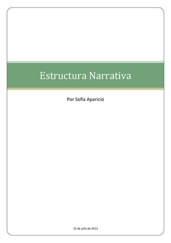 Estructura Narrativa Del Texto By Sofía Aparicio Issuu