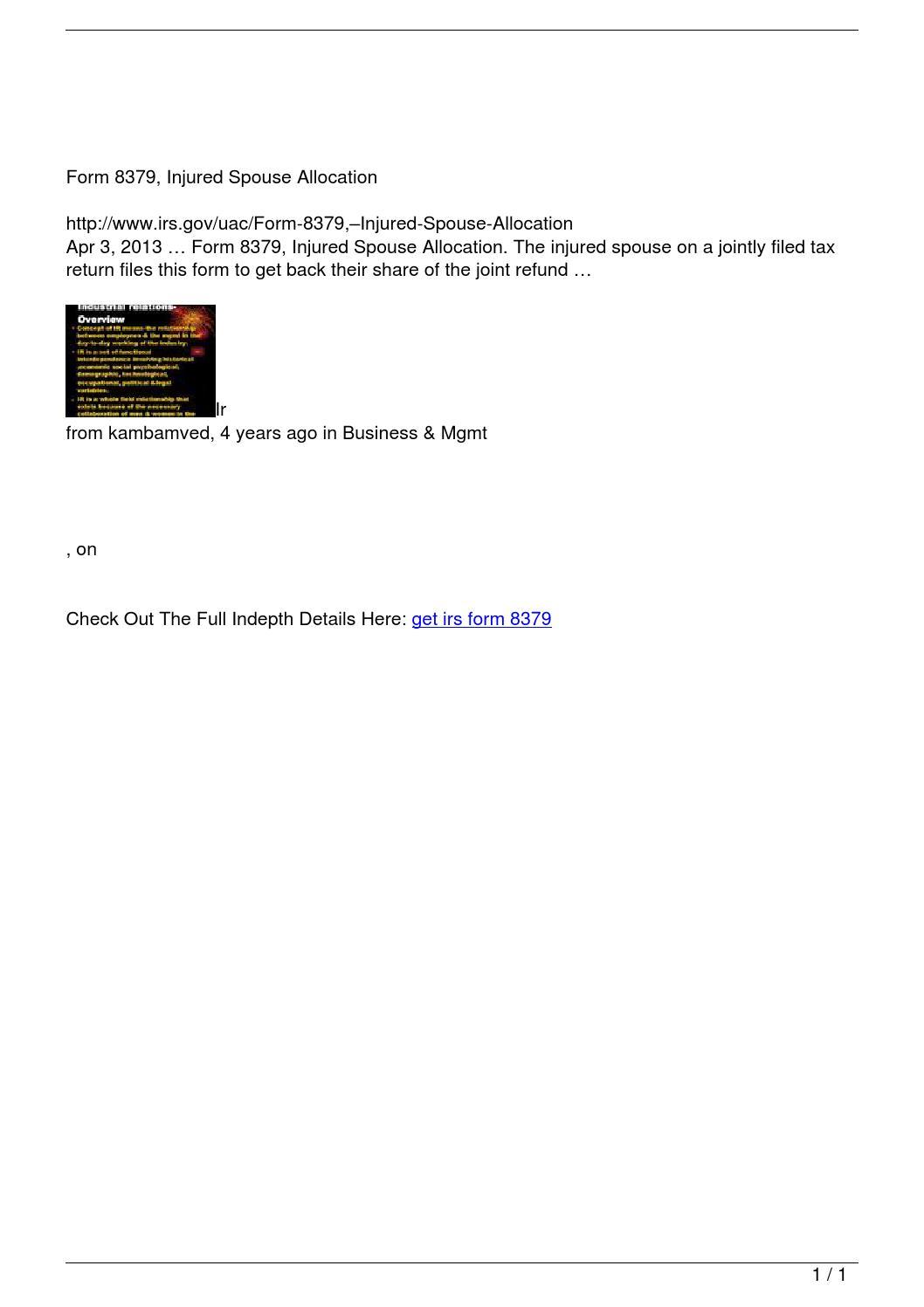get irs form 8379 by Getirs - issuu