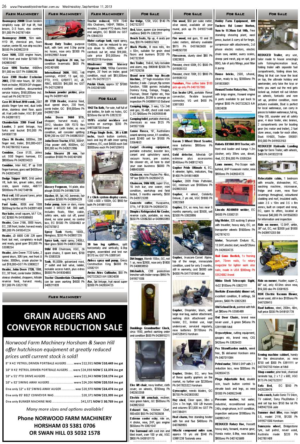 The Weekly Advertiser - Wednesday, September 11, 2013 edition by The