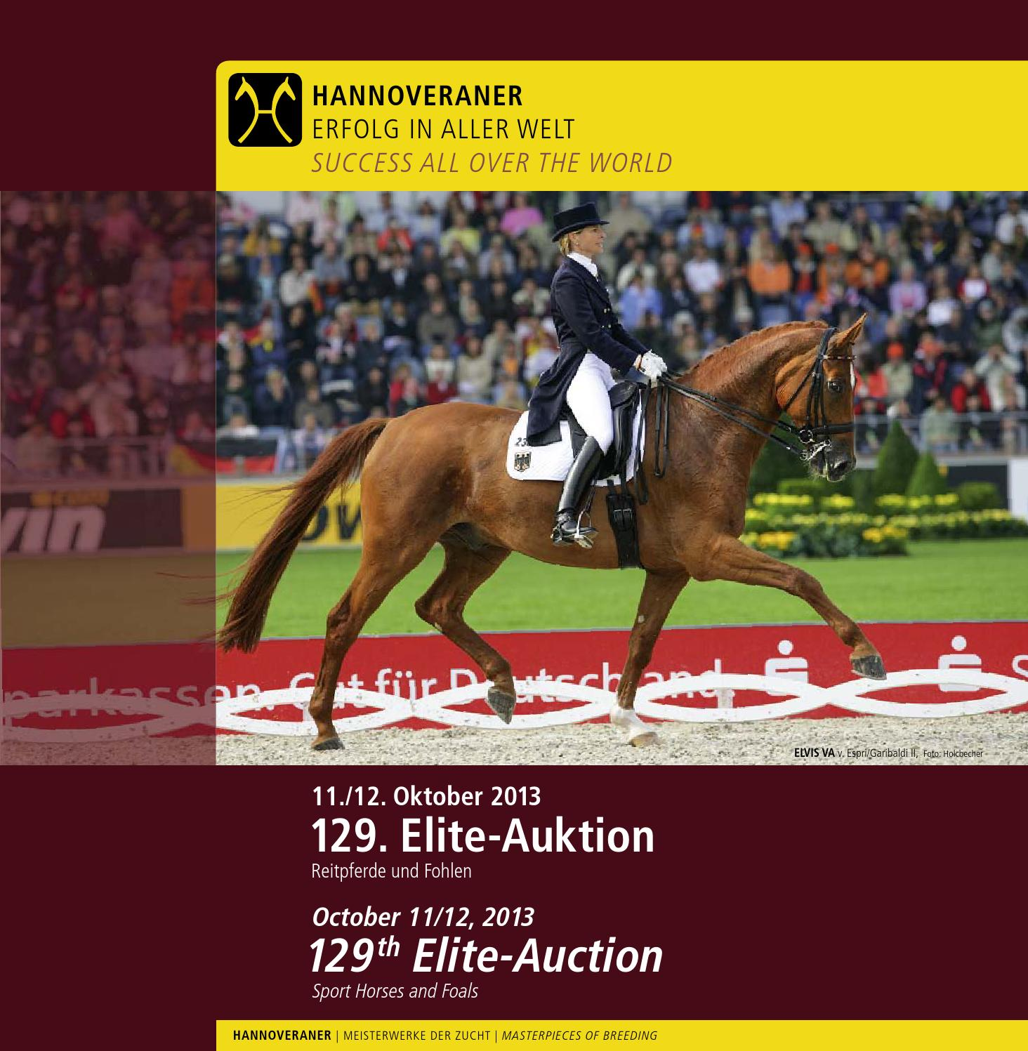 129. Elite-Auktion - 129th Elite-Auction by Hannoveraner Verband - issuu