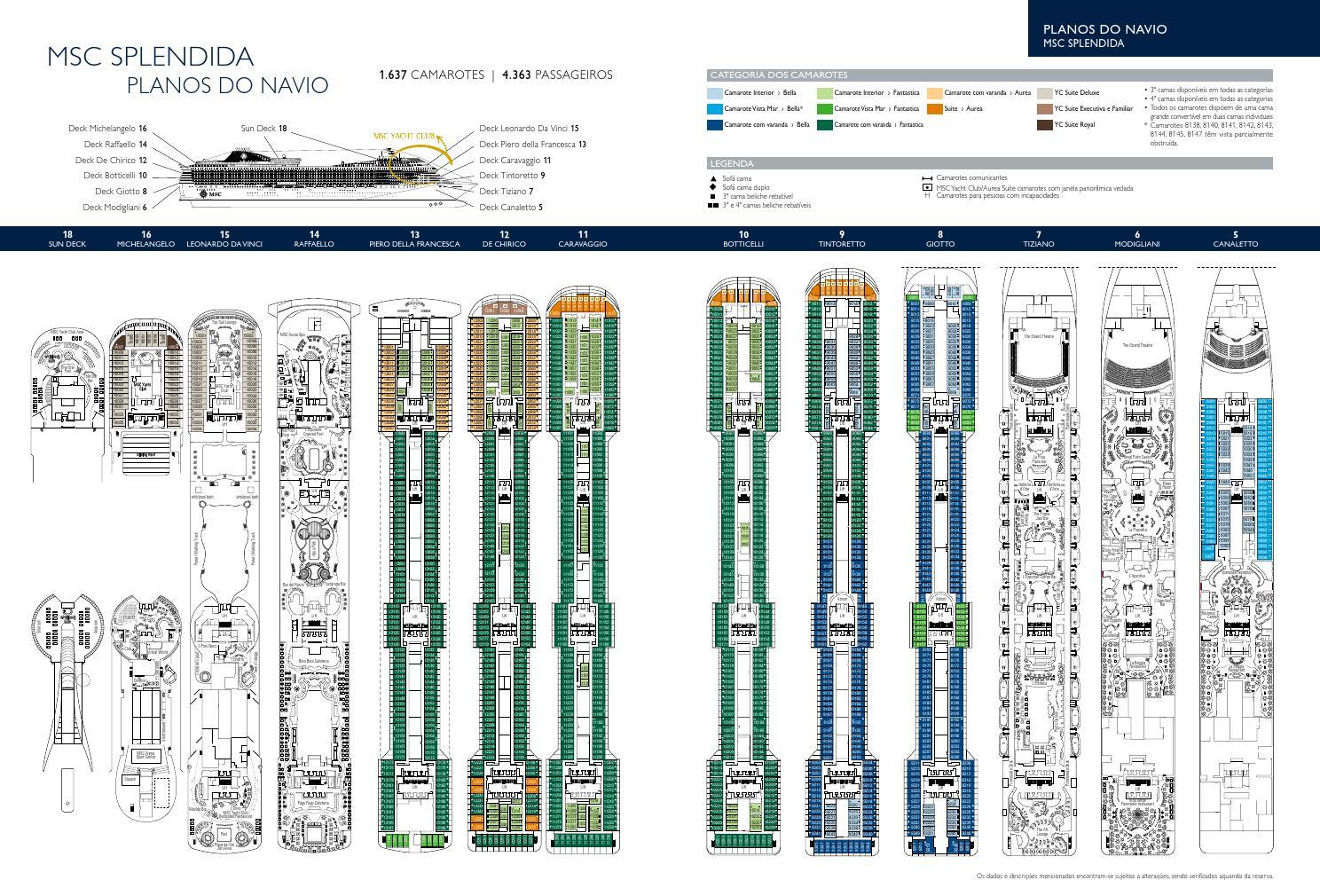 Mscsplendida deckplans port tcm32 80729 by ego travel issuu baanklon Gallery