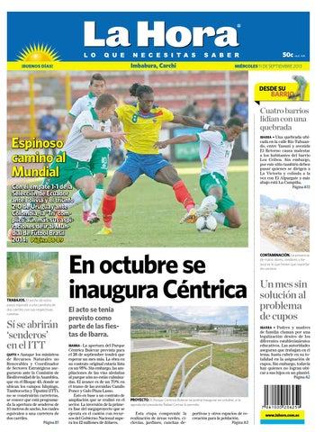 Imbabura Carchi 11 de septiembre de 2013 by Diario La Hora Ecuador ... 29d538932048f