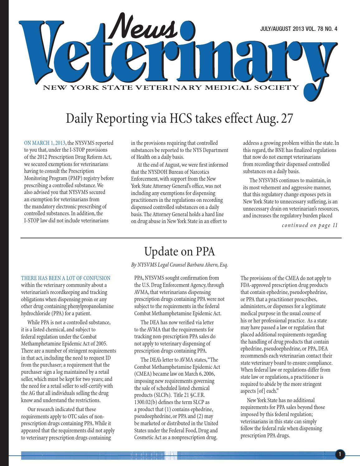 Nysvms Veterinary News July August By Nysvms Issuu