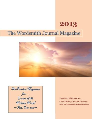 The Wordsmith Journal Magazine September 2013 Issue By Pamela S