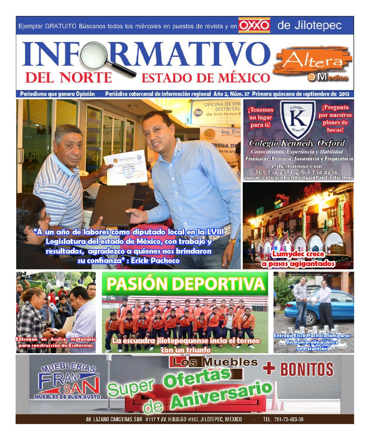 Informativo Del Norte Estado De M Xico Num 37 By Altera Medios  # Muebles Jilotepec