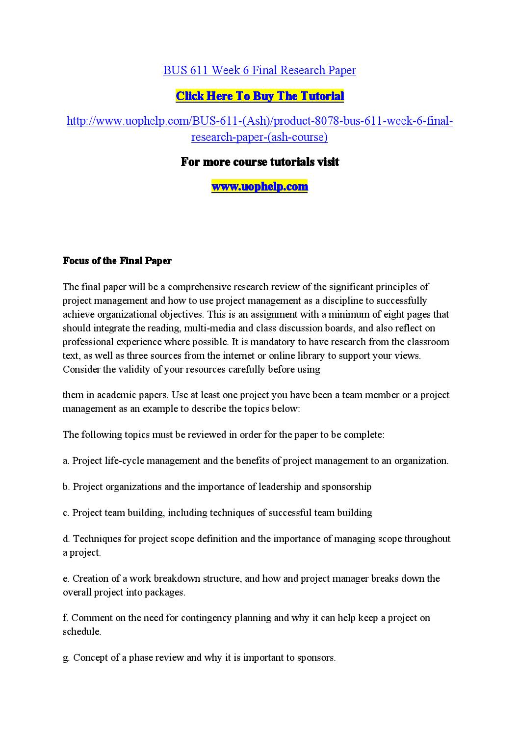 Final term solved papers mgt611