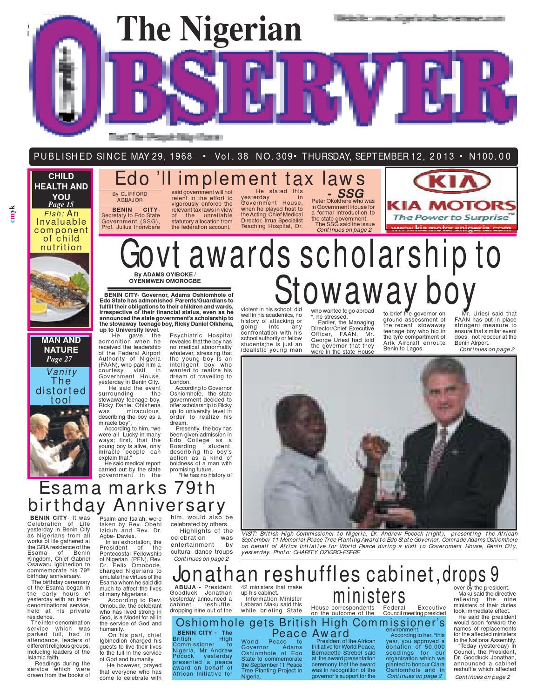 Nigerian observer 12 09 2013 by Nigerian Observer - issuu