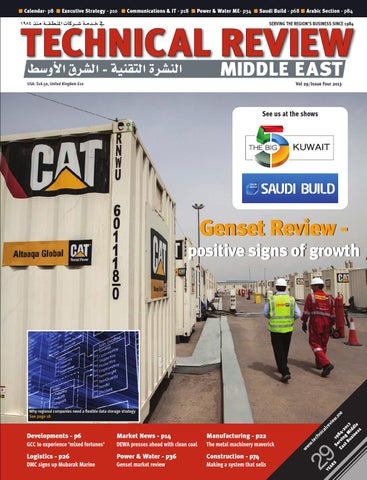 Technical Review Middle East 4 2013 by Alain Charles
