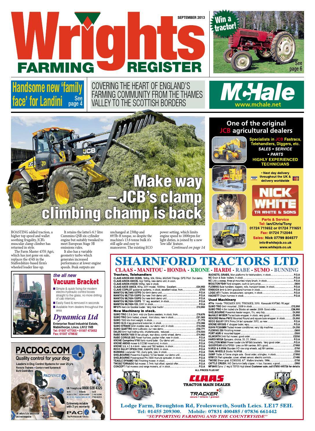 Wrights Farming Register September 2013 Full Edition By Mortons 2006 Nissan Terrano 2 R20 Egr System Wiring Diagram Media Group Ltd Issuu