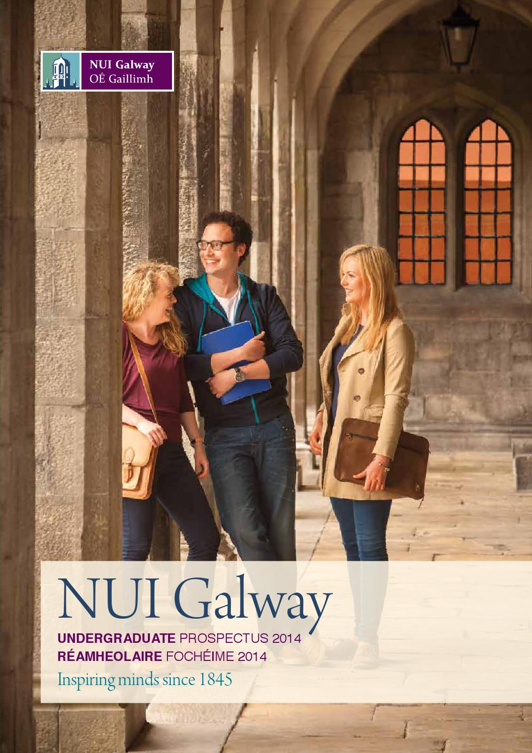 2014 Nui Galway Undergraduate Prospectus By Je Cairnes School Of Business Economics Issuu