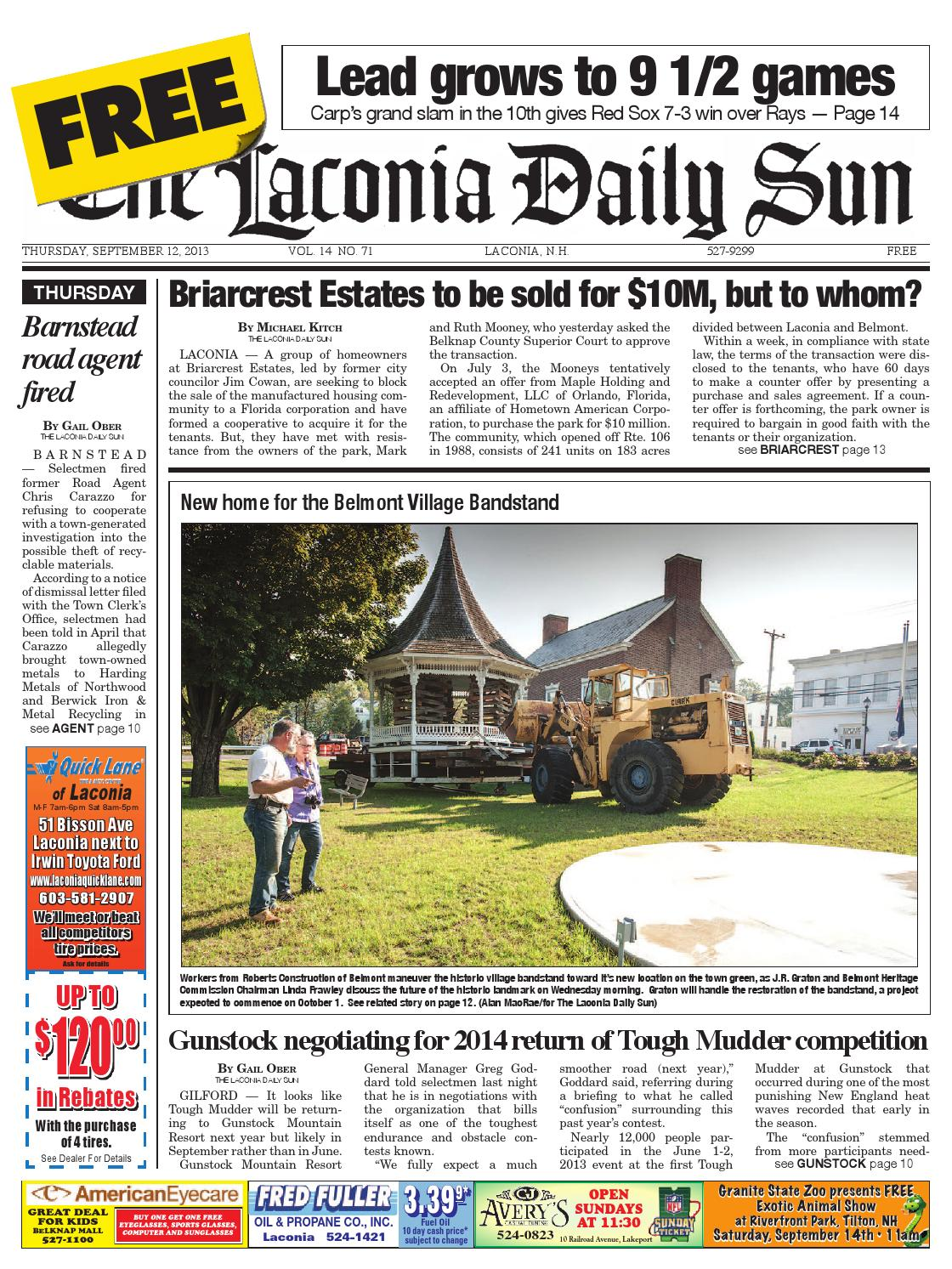 The laconia daily sun, september 12, 2013 by Daily Sun - issuu