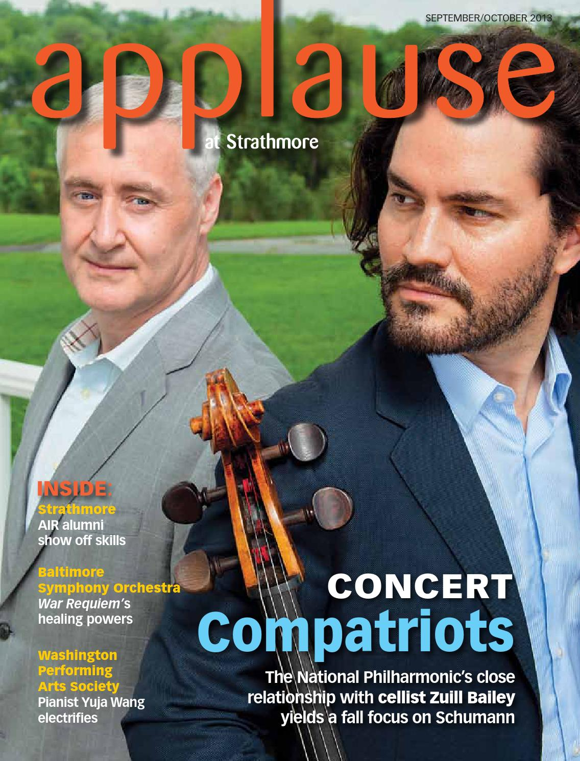 Strathmore Applause Septoct 2013 By Strathmore Issuu