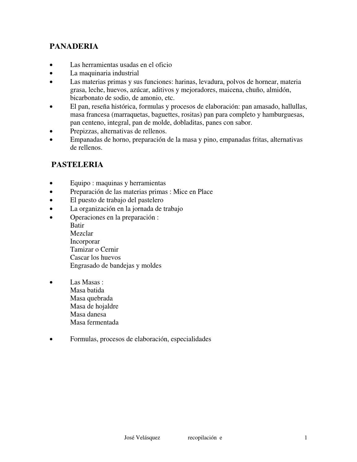 Curso panaderia y pasteleria by Yanira de Coto - issuu
