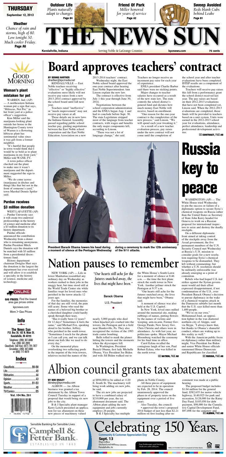 The News Sun – September 12, 2013 by KPC Media Group - issuu