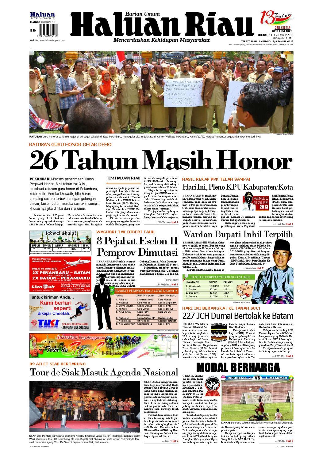Haluanriau 2013 09 13 By Haluan Riau Issuu Produk Ukm Bumn Tas Ransel Threepoint