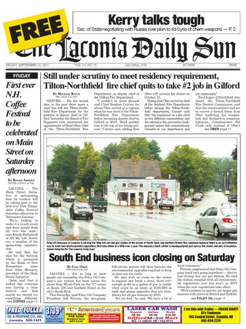 The laconia daily sun, september 13, 2013 by Daily Sun - issuu