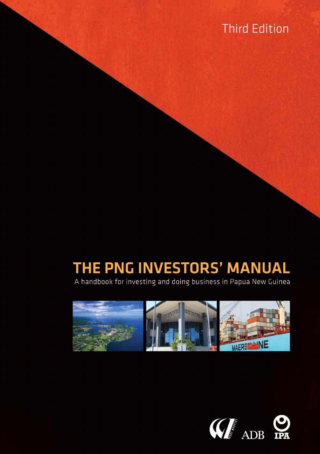 The PNG Investors' Manual (3rd edition) by Business Advantage International  - issuu