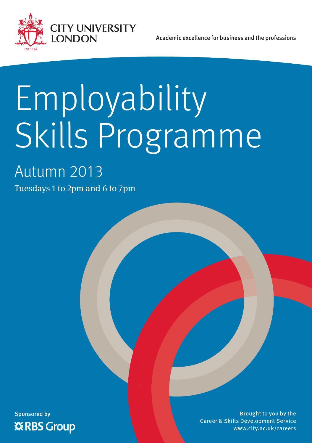 2013 employability skills programme by city university of london 2013 employability skills programme by city university of london issuu falaconquin