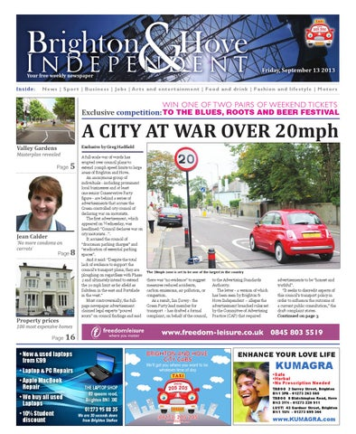 brighton \u0026 hove independent issue 106 13th september 2013 by