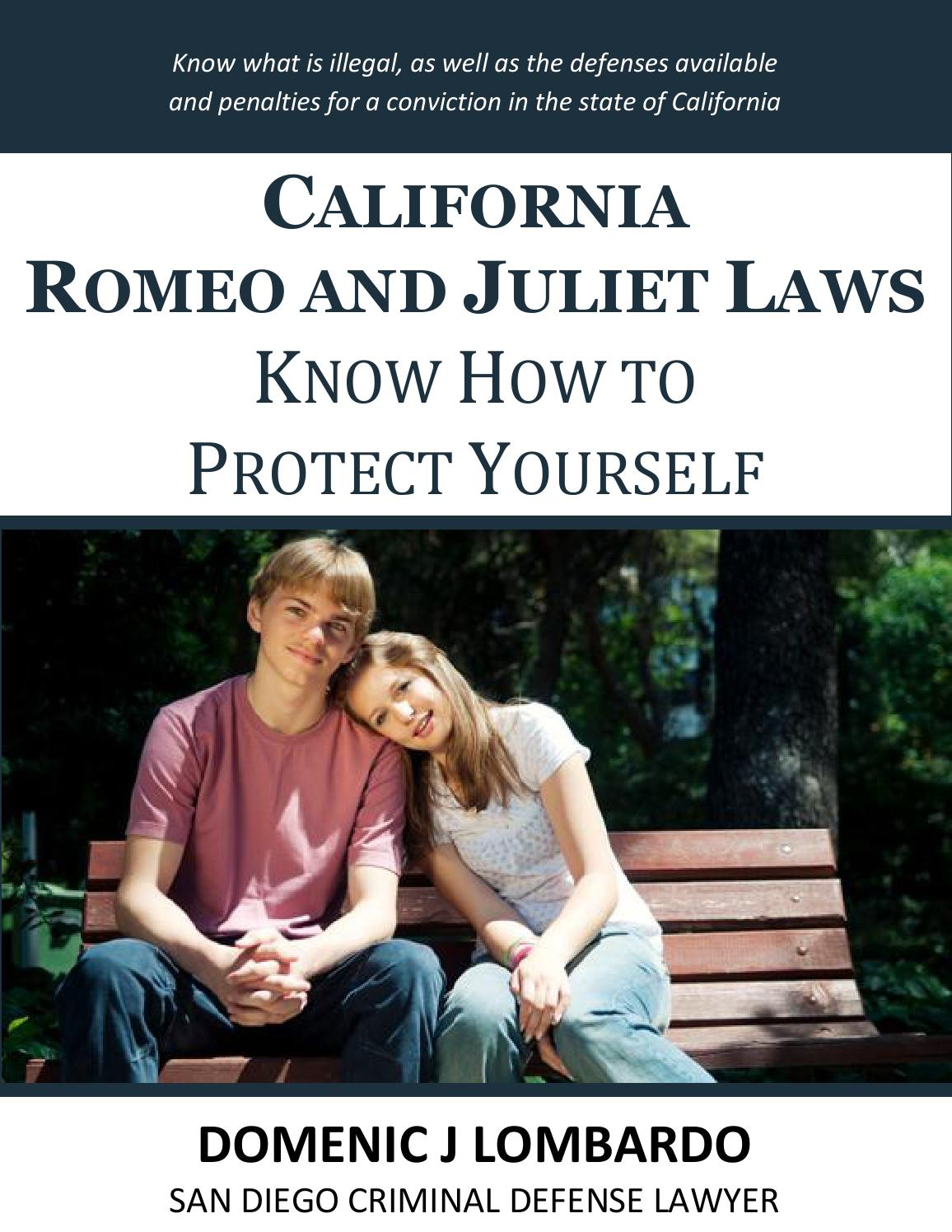 California romeo and juliet laws for dating