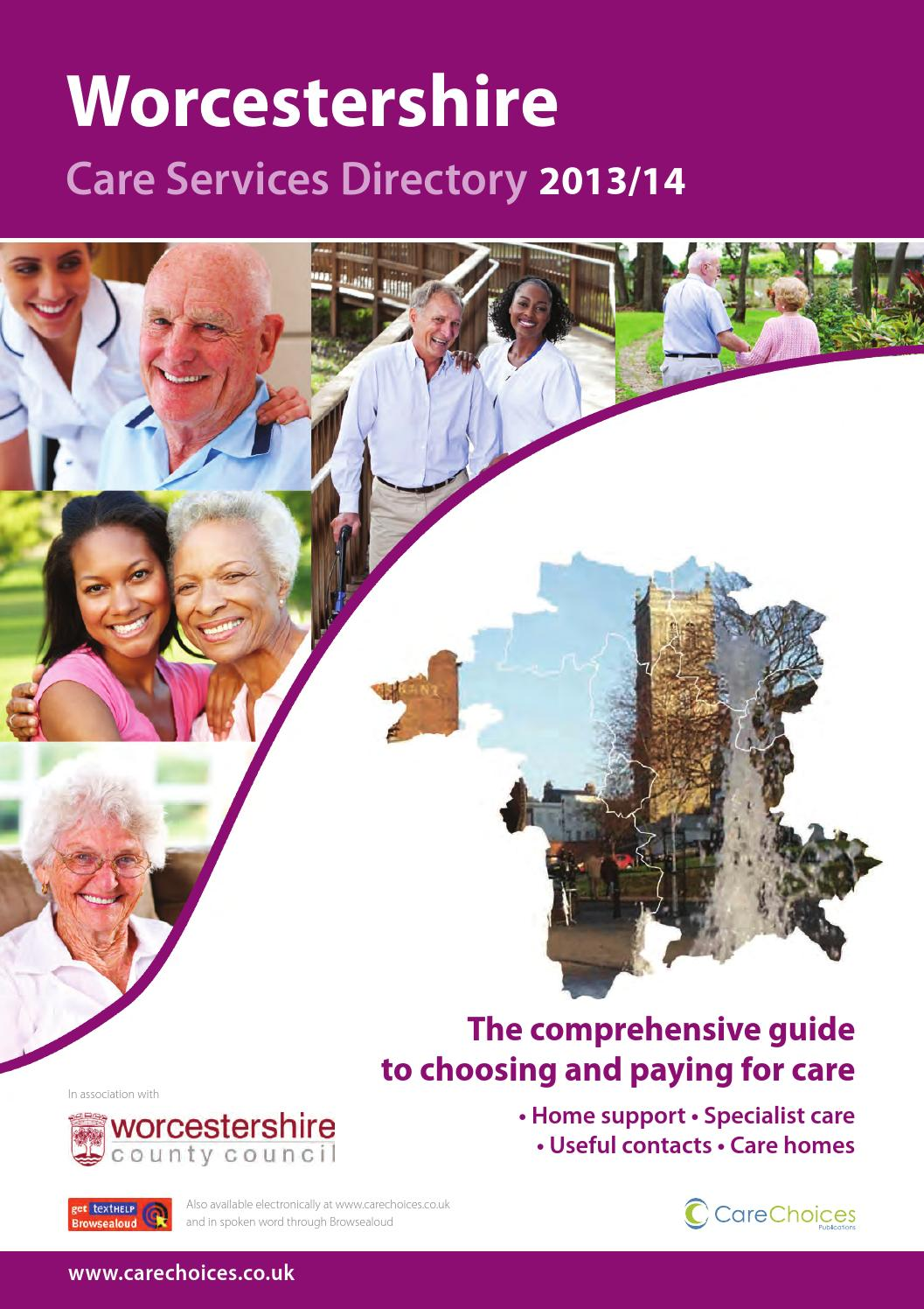 Worcestershire Care Services Directory 2013 14 By Choices Ltd