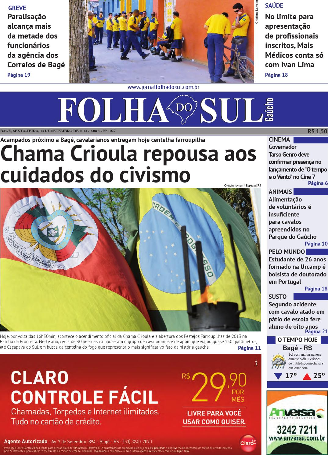 83fb171c9 Folha do Sul Gaúcho Ed. 1027 (13 09 2013) by Folha do Sul Gaúcho - issuu