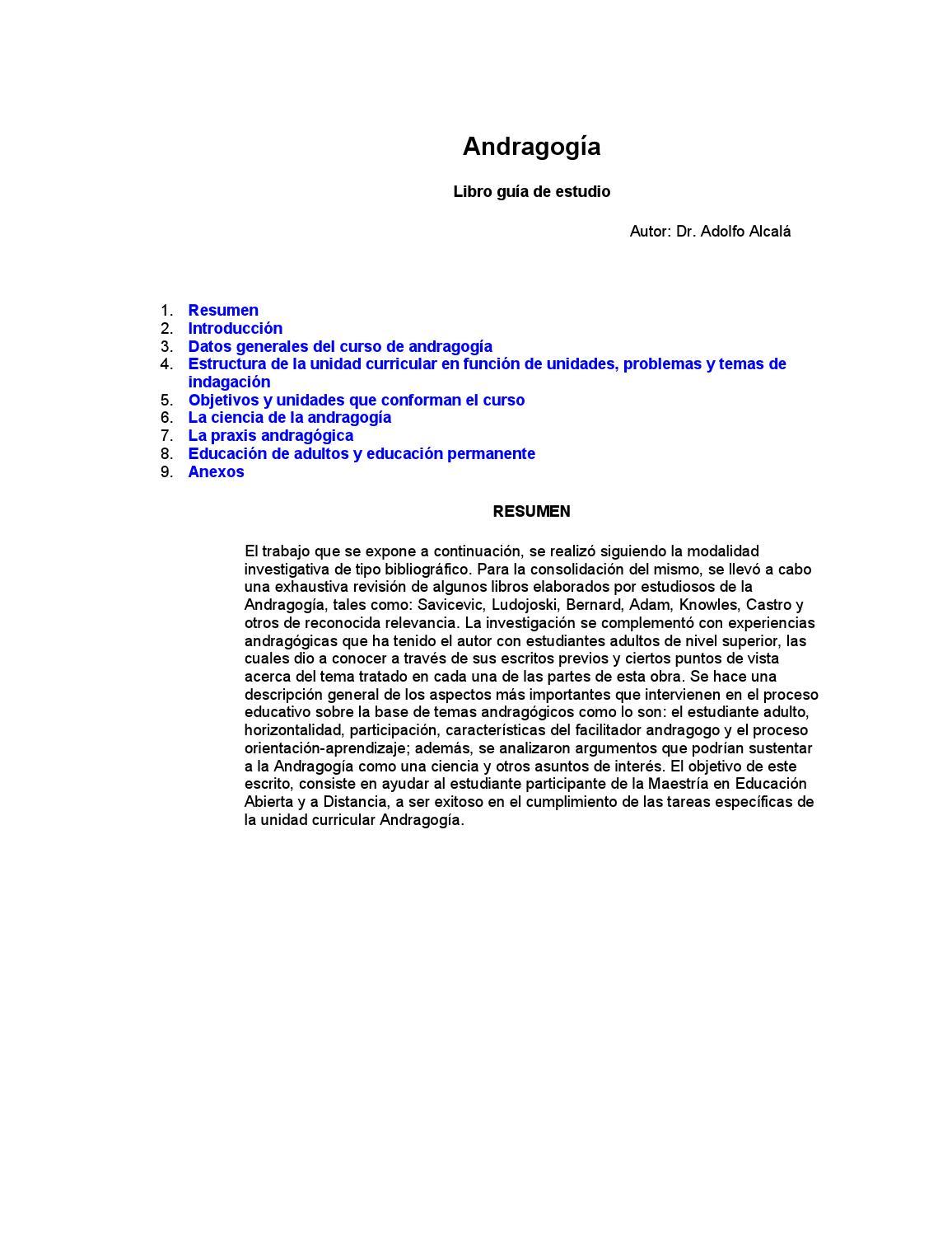 Andragogía libro completo by carlos interiano - issuu