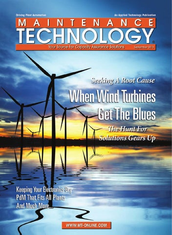 Maintenance Technology September 2013 by Applied Technology