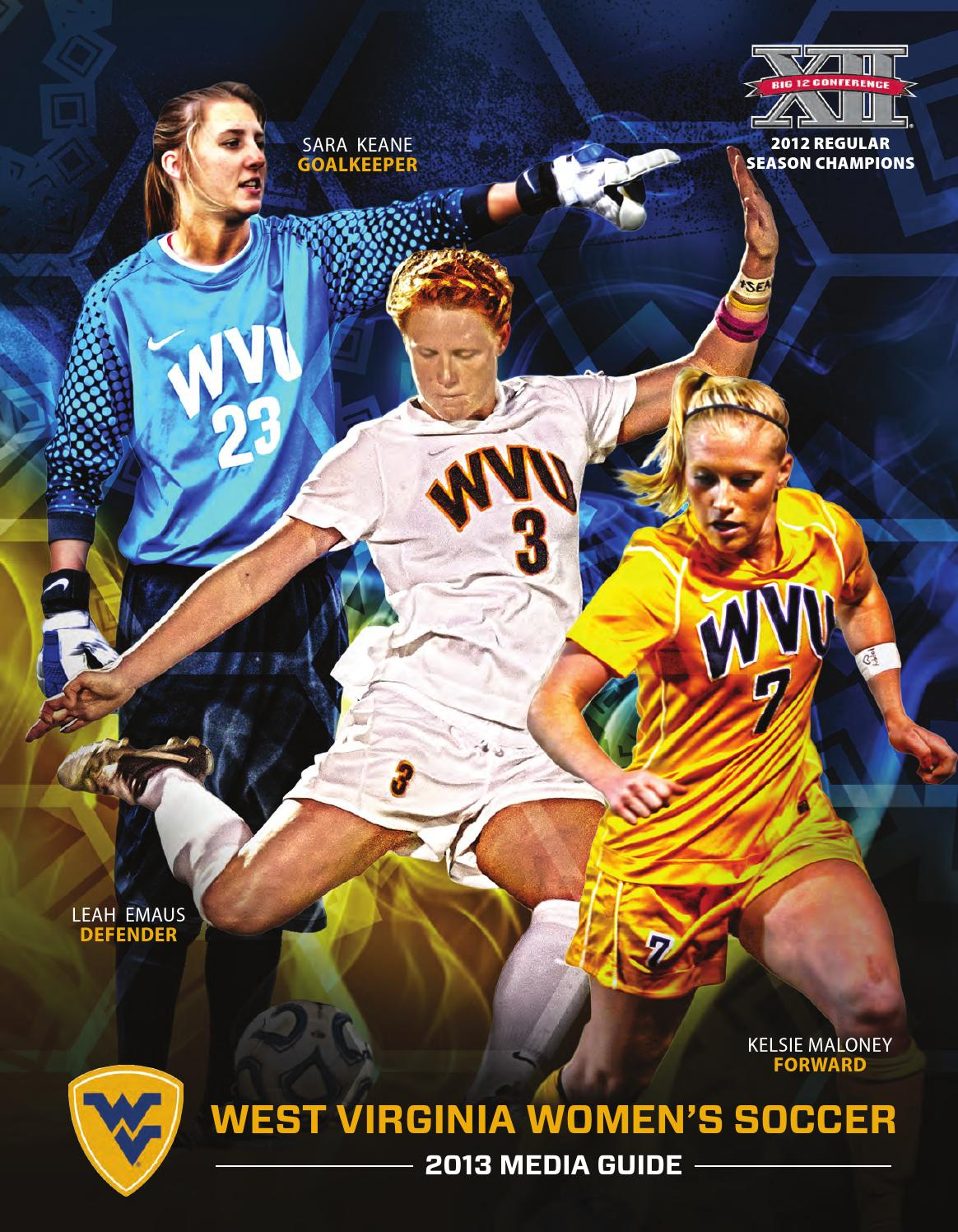 2013 west virginia university women u0026 39 s soccer guide by joe