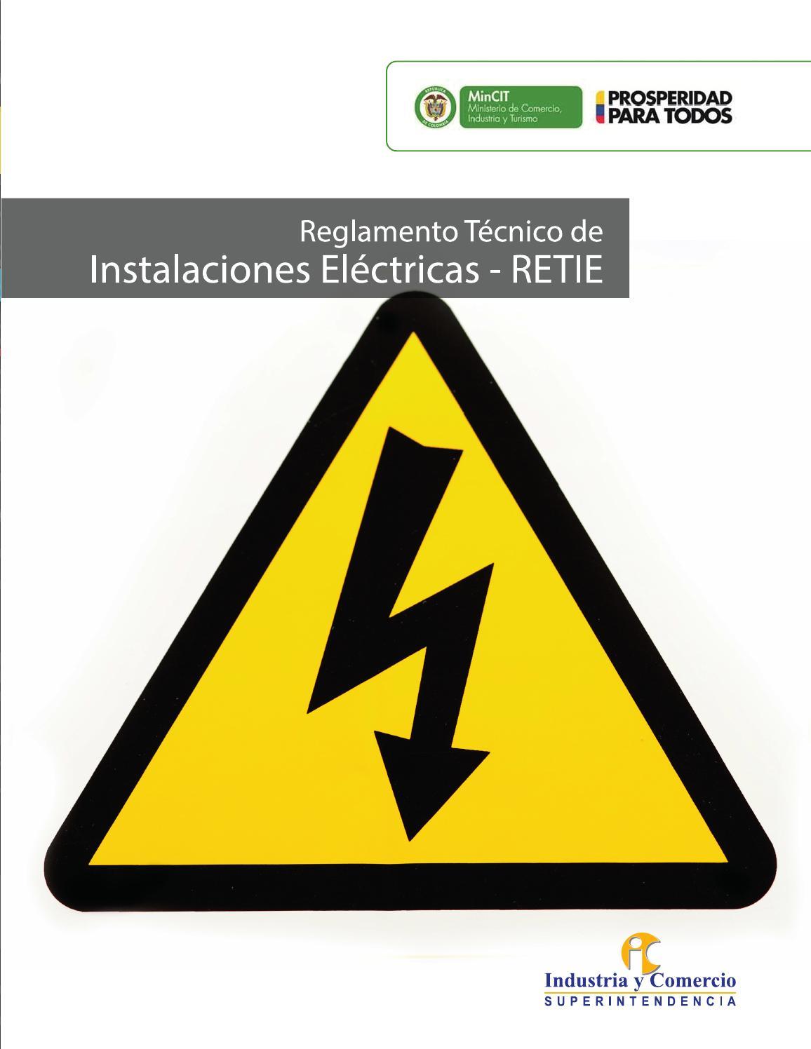 Instalaciones Eléctricas - RETIE by Superintendencia de Industria y ...