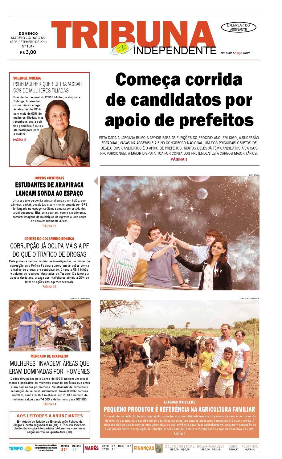 901c4b3e54c Edição número 1847 - 15 de setembro de 2013 by Tribuna Hoje - issuu
