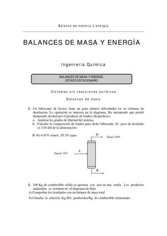 Balance de materia con reacción química by Yolimar Fernández - issuu 07a069907db