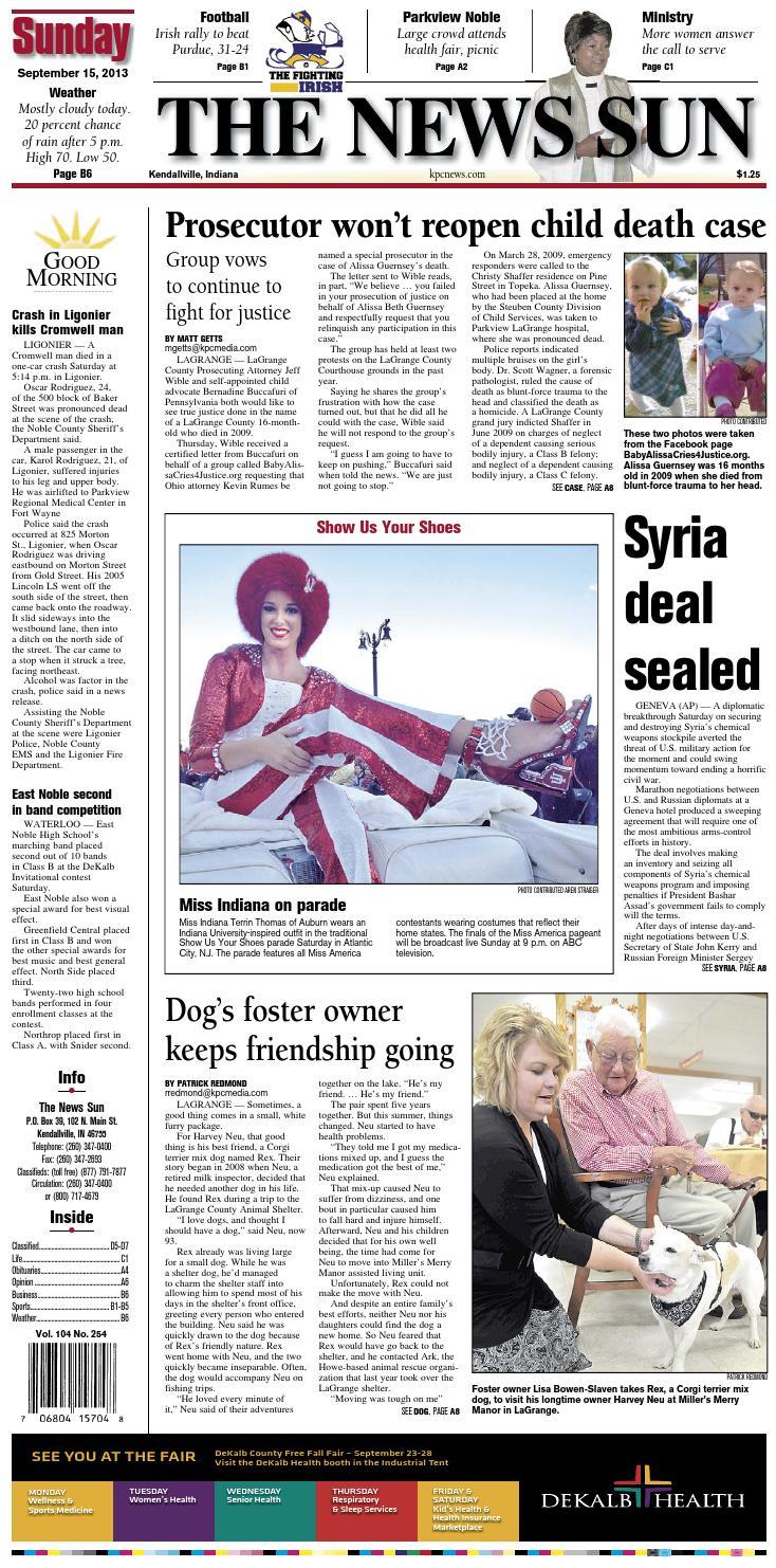 Hemnes Bedbank Bruin.The News Sun September 15 2013 By Kpc Media Group Issuu