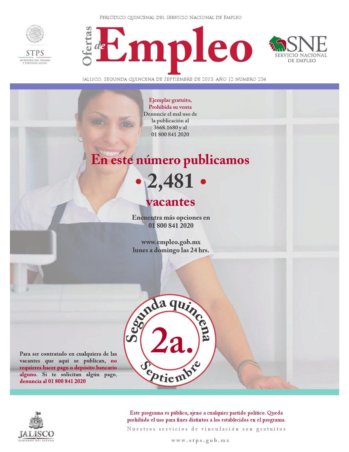 Ofertas De Empleo 2a Quincena De Septiembre 2013 By Comunicaci N  # Vacantes Muebles Dico Guadalajara