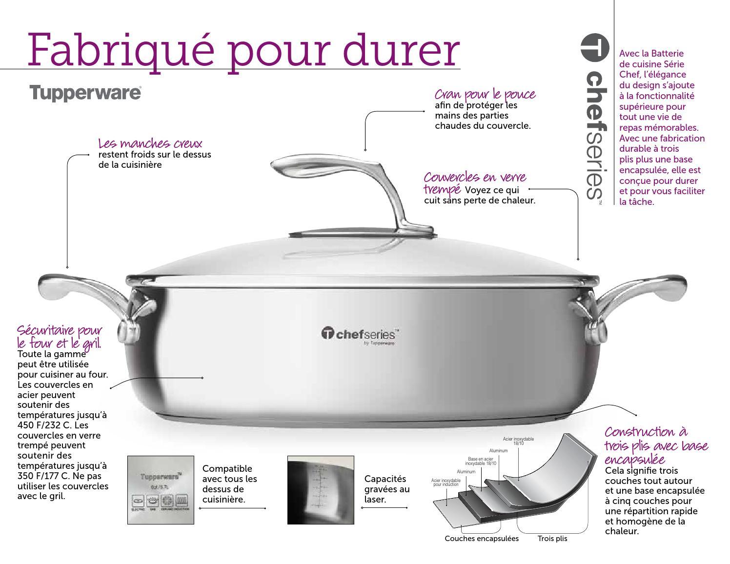 Batterie De Cuisine Gaz la série chef tupperwarenathalie tupperware catalogues