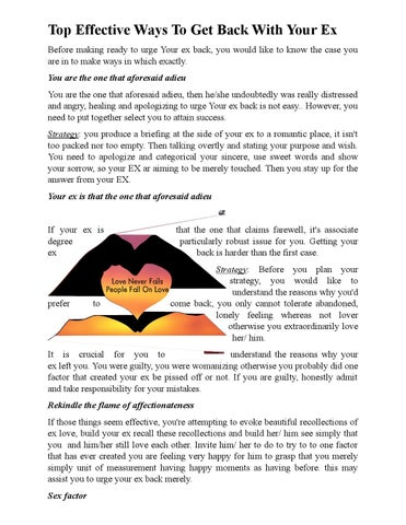 Top effective ways to get back with your ex by lin chan - issuu