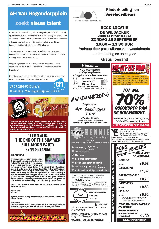 Doe Het Zelf Dump Goirle.Goirles Belang 37 11 09 2013 By Gbg Primeur Issuu