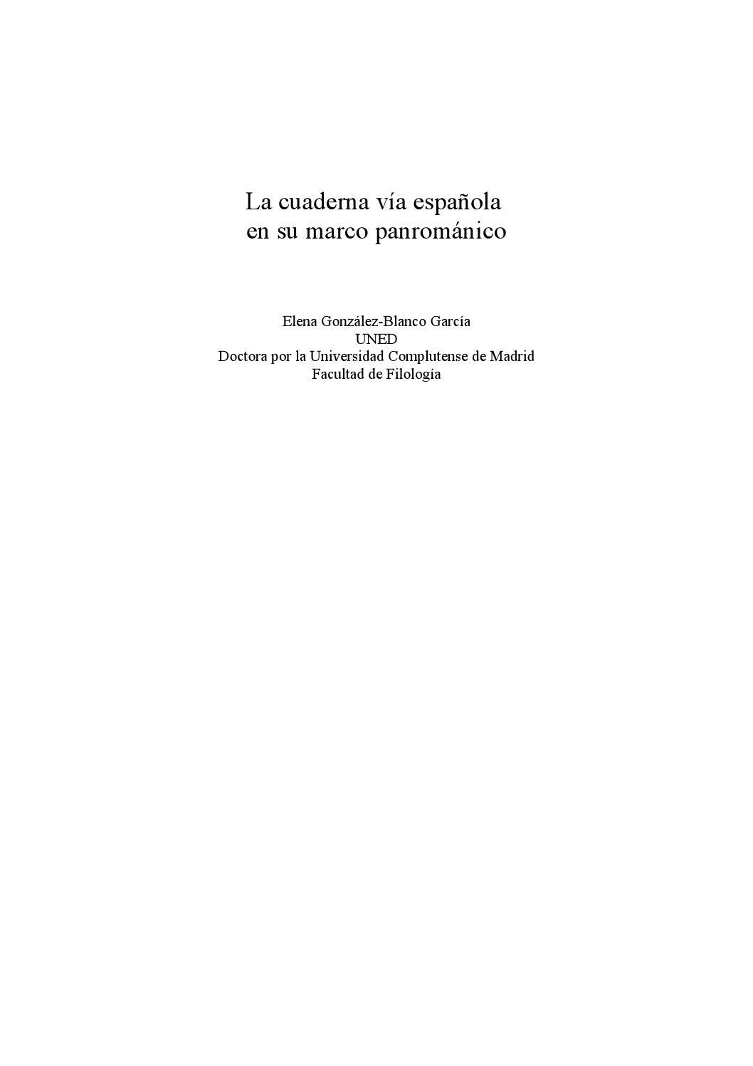 La cuaderna vía española en su marco panrománico by Elena González ...