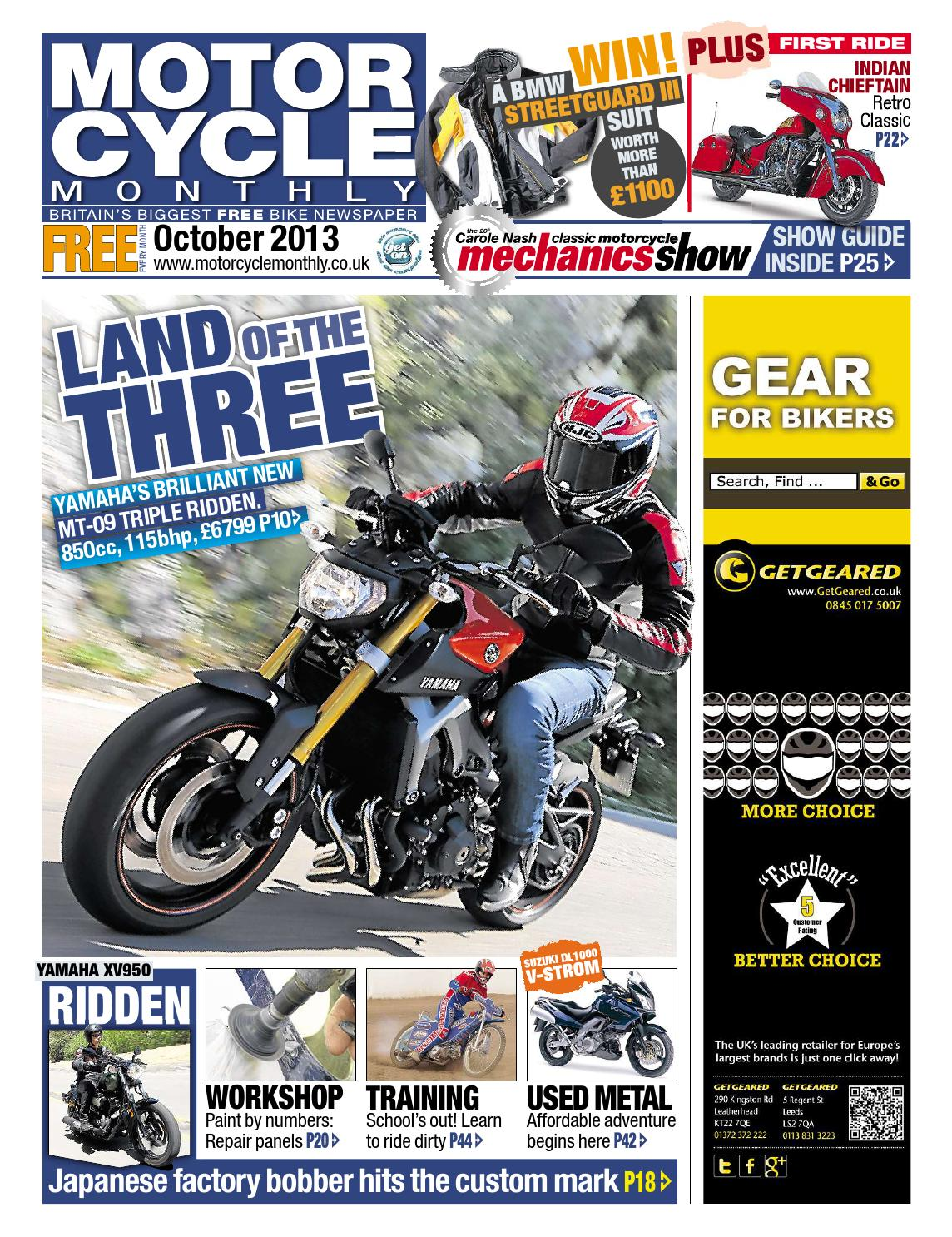 Motor Cycle Monthly October 2013 Full Edition By Mortons Media Suzuki M15a Engine Timing Marks Group Ltd Issuu