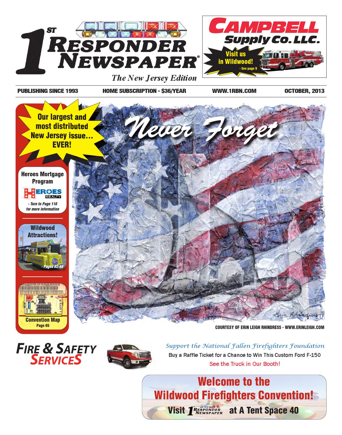1st Responder New Jersey October Edition by Belsito munications